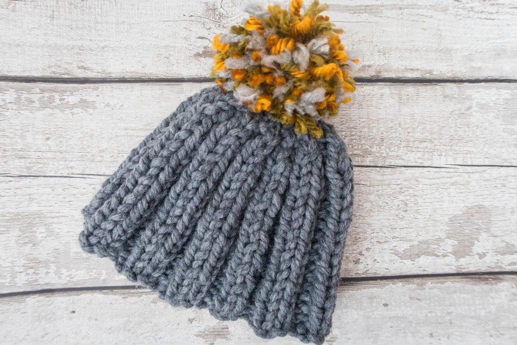 Stash Busting Chunky Bobble Hat - Free Knitting Pattern ...